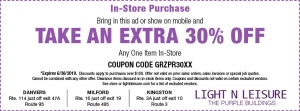 Storewide Lighting Coupon