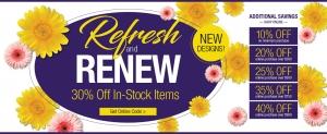 Refresh and Renew Lighting Sale