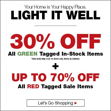 Green Tag Lighting Sale - 30% Lighting