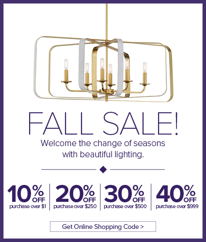 Fall Lighting Sale